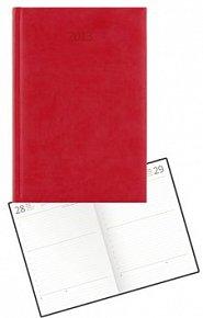 Diář koženkový 2012 - Print denní B6 - červená