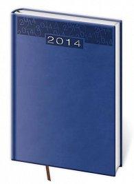 Diář 2014 - týdenní B5 Print - modrá