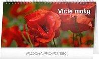 Vlčie maky riadkový - stolový kalendár 2017