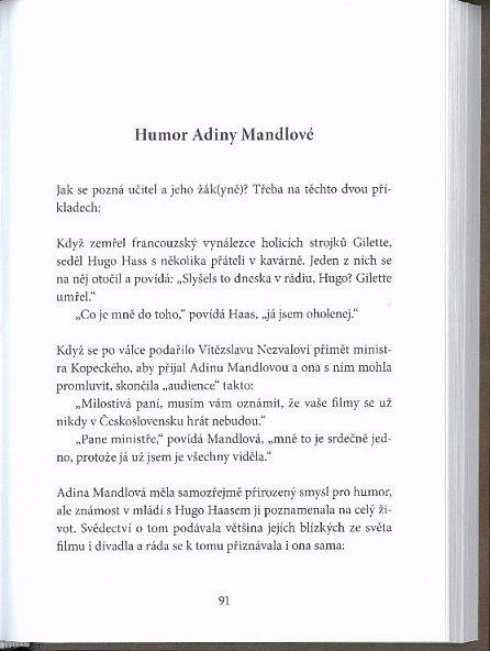 Náhled Čemu se smála Adina Mandlová