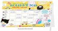 Kalendář nástěnný 2016 - Týdenní rodinný plánovací - s háčkem, 2016, 30 x 21 cm