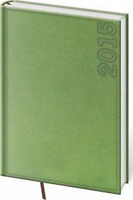 Diář 2015 - TWILL denní A5 - zelená