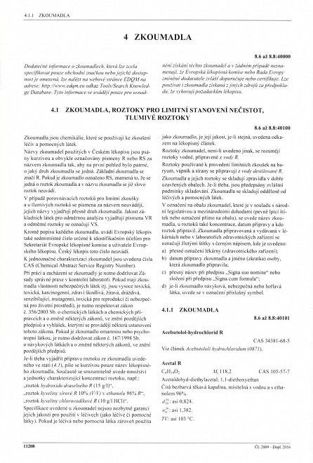 Náhled Český lékopis 2009 - Doplněk 2016