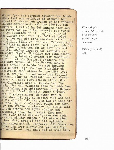 Náhled Astrid Lindgrenová - Válečné deníky 1939-1945