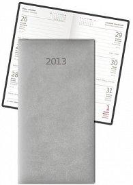 Diář koženkový 2012 - Print týdenní kapesní - béžová