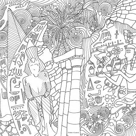 Náhled Magické město - Omalovánky pro dospělé