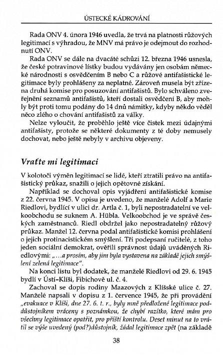 Náhled Ústecké kádrování aneb Jak jsme přišli o desetitisíce perspektivních německých komunistů...