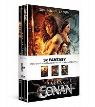 3x Fantasy (3 DVD): Barbar Conan, Válka bohů, Hon na čarodějnice