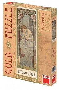 Alfons Mucha - Odpočinek noci - puzzle 1000