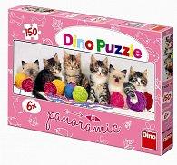 Kočičky s klubíčky - puzzle Panoramic 15
