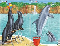 Puzzle MIDI - Artisti - lachtani,delfíni/35 dílků (2 druhy)