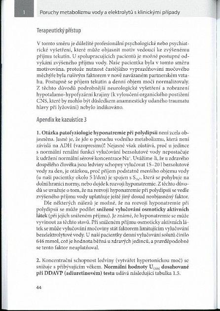 Náhled Poruchy metabolizmu vody a elektrolytů s klinickými případy