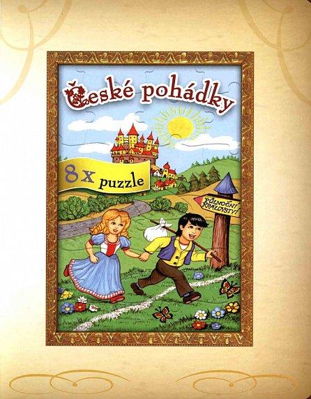 Náhled České pohádky - 8x puzzle, objevuj, skládej a obkresli
