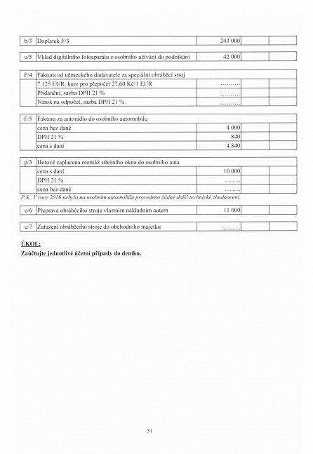 Náhled Sbírka příkladů k učebnici účetnictví II. díl 2016