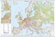 Evropa nástěnná automapa