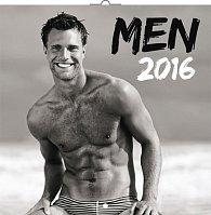 Kalendář nástěnný 2016 - Muži, poznámkový  30 x 30 cm