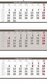Kalendář nástěnný 2015 - Tříměsíční sklá
