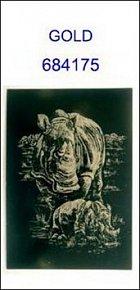 Škrabací obrázek A5 nosorožci GOLD