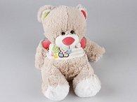 Medvěd sedící v tričku  25 cm