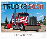 Kalendář nástěnný 2020 - Trucks, 48 × 33 cm