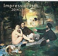 Kalendář 2014 - Impresionismus - nástěnný s prodlouženými zády