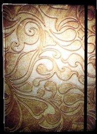 Zápisník s gumičkou A4 210x290 mm zlatý ornament