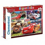 Puzzle Supercolor 250 dílků Auta