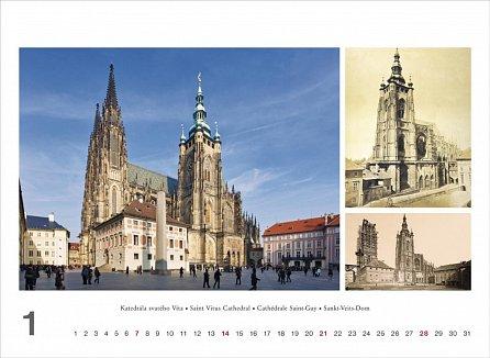 Náhled Kalendář nástěnný 2018 - Praha – Prague, 33,5 x 29 cm