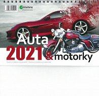 Kalendář 2021 Auta & motorky - stolní