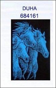 Škrabací obrázek A4 koně DUHA