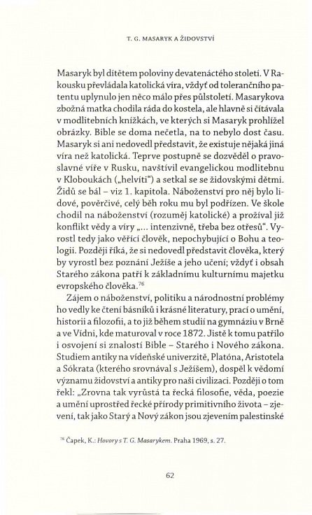 Náhled T. G. Masaryk a židovství