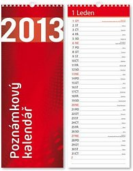 Poznámkový kalendář 2013 (420x160) - nástěnný kalendář