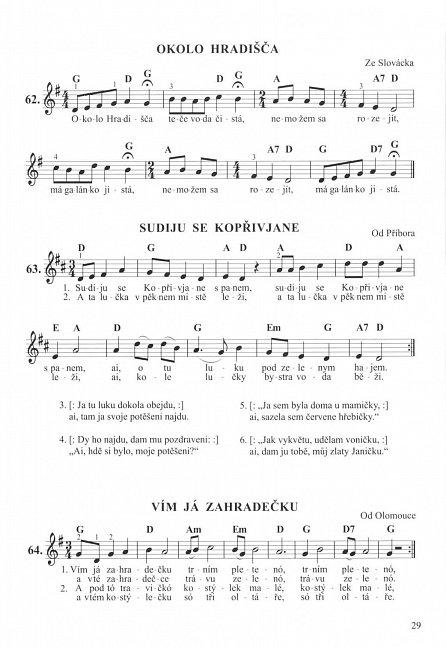 Náhled Moravské národní písně a koledy