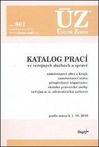UZ 801 Katalog prací