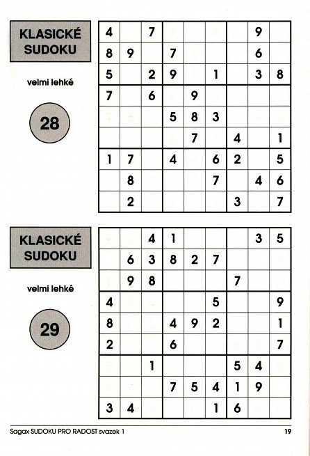 Náhled Sudoku pro radost 1