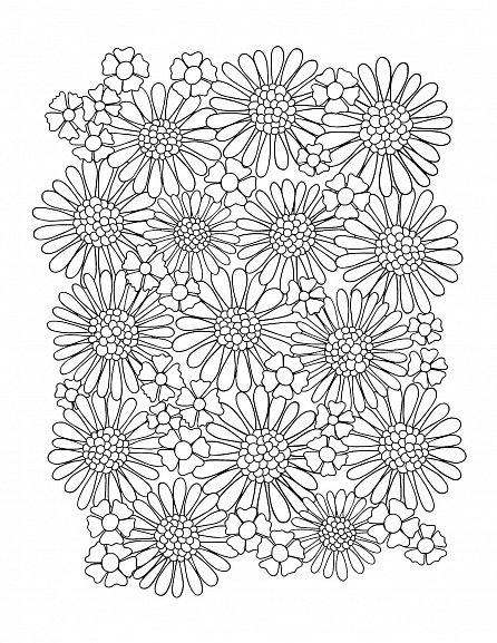 Náhled Antistresové omalovánky: Květiny