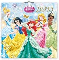 Kalendář 2015 - W. Disney Princezny - nástěnný (CZ, SK, HU, GB)