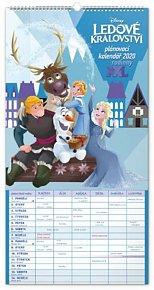 Kalendář nástěnný 2020 - Rodinný plánovací XXL – Ledové království , 33 × 64 cm