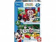 Puzzle Mickey Mouse 2v1 20 dílků
