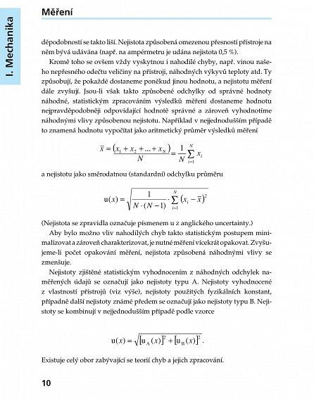 Náhled Kompendium fyziky - Vzorce, zákony a pravidla, Úlohy, příklady a jejich řešení, Podrobná slovníková část