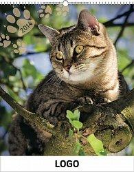 Kalendář 2014 - Kočky Praktik - nástěnný s prodlouženými zády
