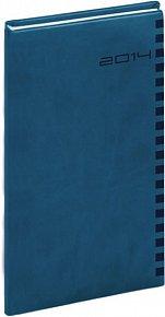 Diář 2014 - Ontario - kapesní, královská modrá (ČES, SLO, ANG, NĚM)