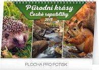 Kalendář stolní 2018 - Přírodní krásy České republiky, 23,1 x 14,5 cm