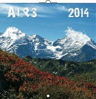 Kalendář 2014 - Alpy Jan Hocek - nástěnný poznámkový (ČES, SLO, MAĎ, POL, RUS, ANG)