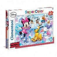 Puzzle Supercolor 104 dílků Minnie Sport