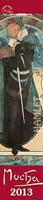 Kalendář 2013 nástěnný - Alfons Mucha, 10,5 x 48 cm