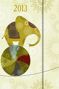 Diář 2013 - Elephants - 10,5 x 15,8 - 6jazyčné (ČES, SLO, MAĎ, POL, ANG, NĚM)