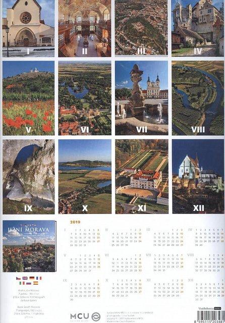 Náhled Kalendář nástěnný 2018 - Jižní Morava/střední formát