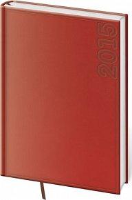 Diář 2015 - TWILL denní A5 - červená