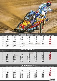 Kalendář nástěnný 2015 - Motorky - 3měsíční